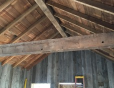 Reused Ceiling Lumber from the Original Structure