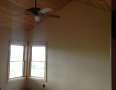 Cedar Plank Ceilings in Master Bedroom