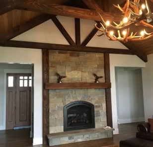 Montana Buck Skin Gas Fireplace