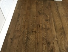 Skip-sawn white oak floors throughout the house