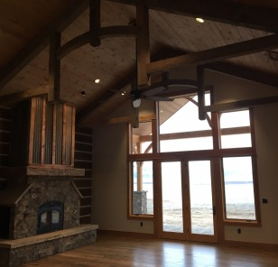 Custom Rustic Wooden Great Room