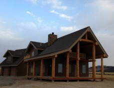 Pronghorn Custom Home Close UpI Ennis, MT
